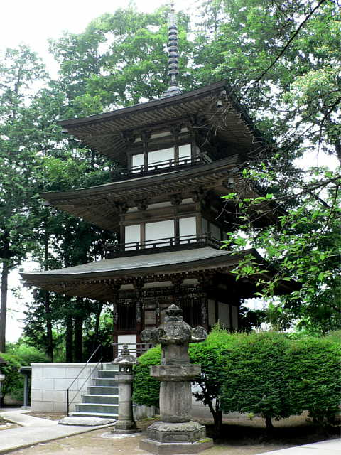 恵林寺 仏舎利宝塔 写真  「開山堂 法堂」「仏舎利宝塔」 KaisandoBushari-ho