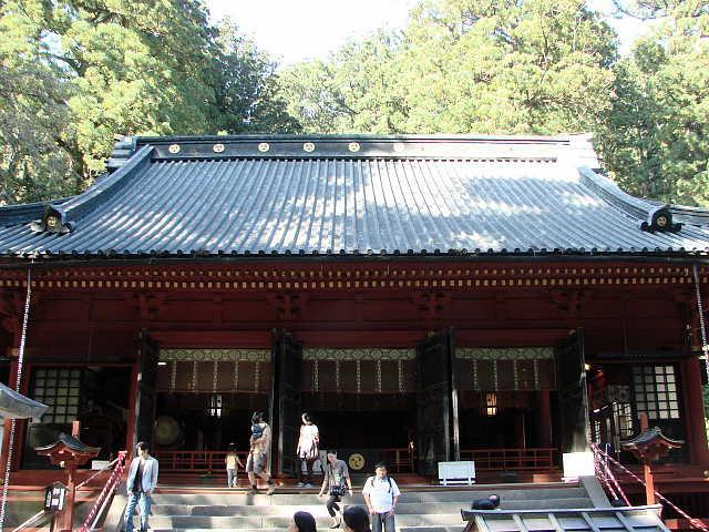 日光 二荒山神社 拝殿  「拝殿」「拝殿」 HaidenHaiden 拡大 画像Click拡大